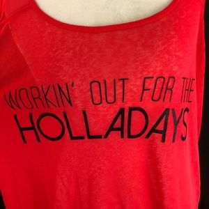 Material Girl Tops - Material Girl Active Work For The Holladays Tank